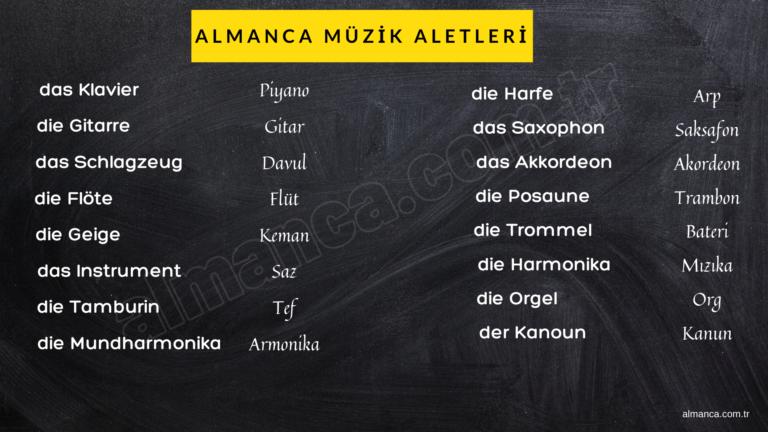Almanca Müzik Aletleri